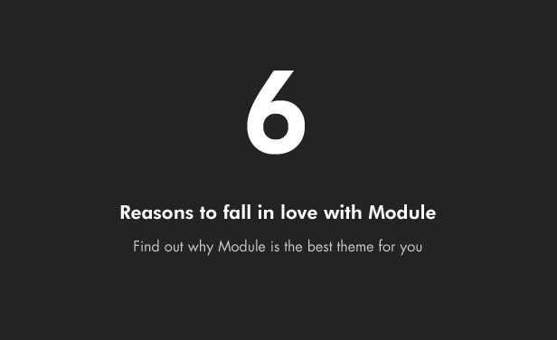 Module – A Minimalist Photography WordPress Theme