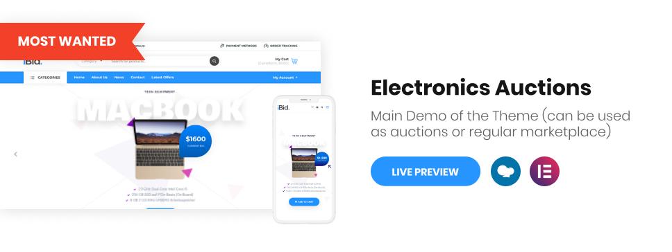 iBid - Multi Vendor Auctions WooCommerce Theme - 2