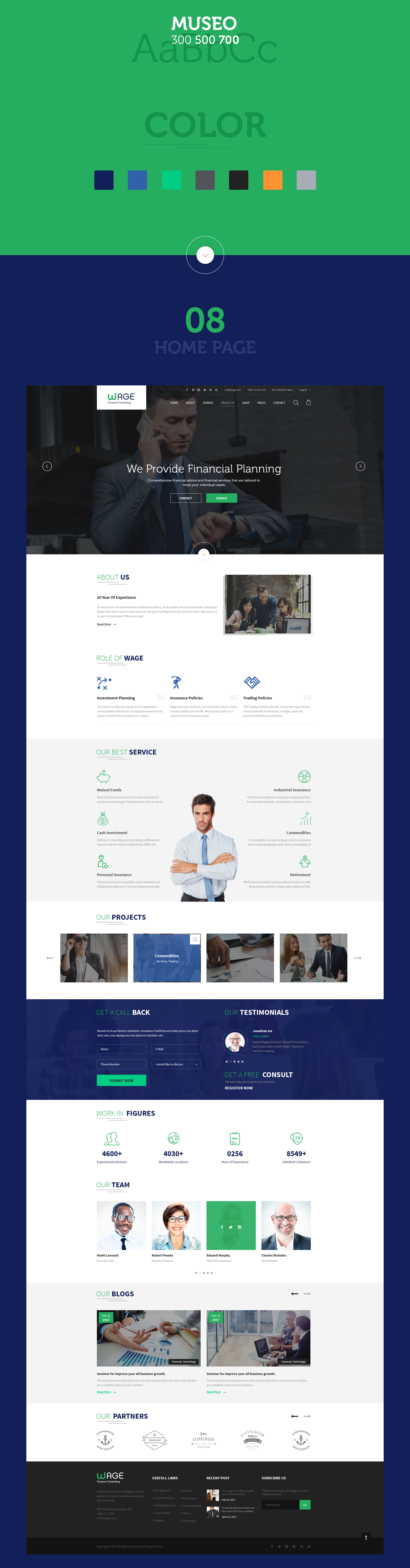 Wage - Business and Finance WordPress Theme - 11