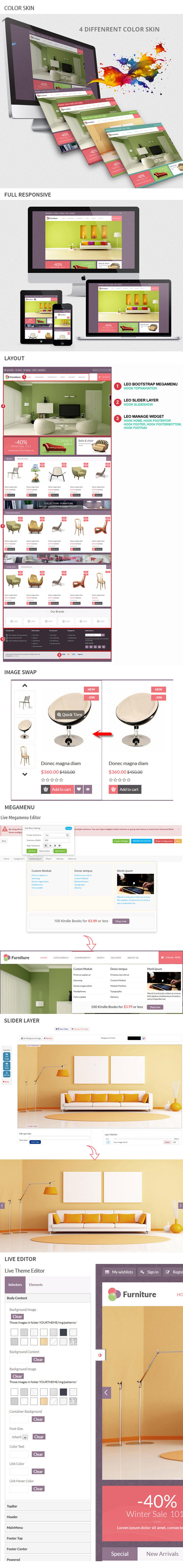 Leo Furniture Prestashop Theme - 1