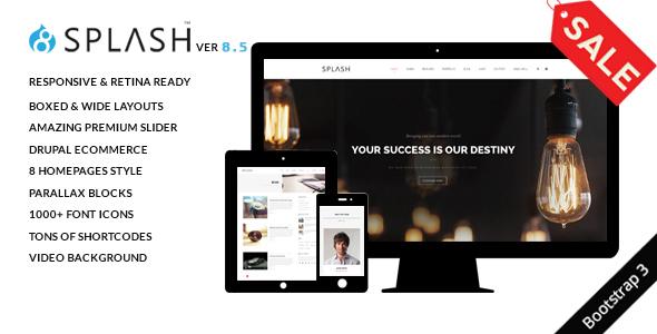 Splash - Multi-Purpose Bootstrap Drupal 8 Theme