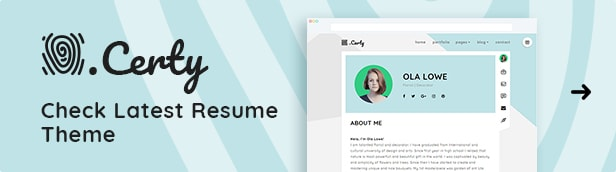 Certy - WordPress Resume, CV Theme