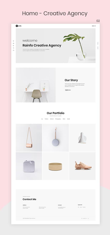 Rainfo - Minimal Creative Portfolio for Freelancers & Agencies - 3