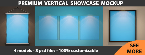 Vertical Showcase Mockup