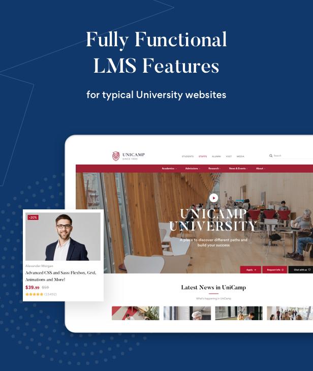 Unicamp - University and College WordPress Theme - 4