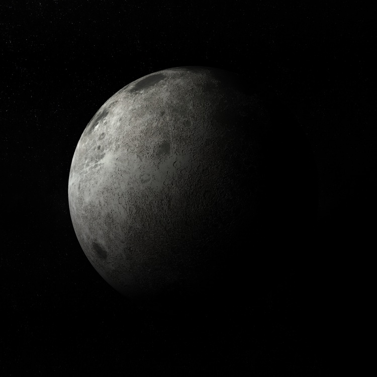 Moon celestial bodies planet satellite 3d model