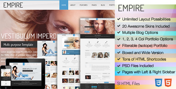 Empire Responsive HTML
