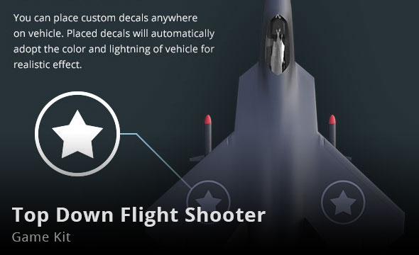 Top Down Flight Shooter Game Kit