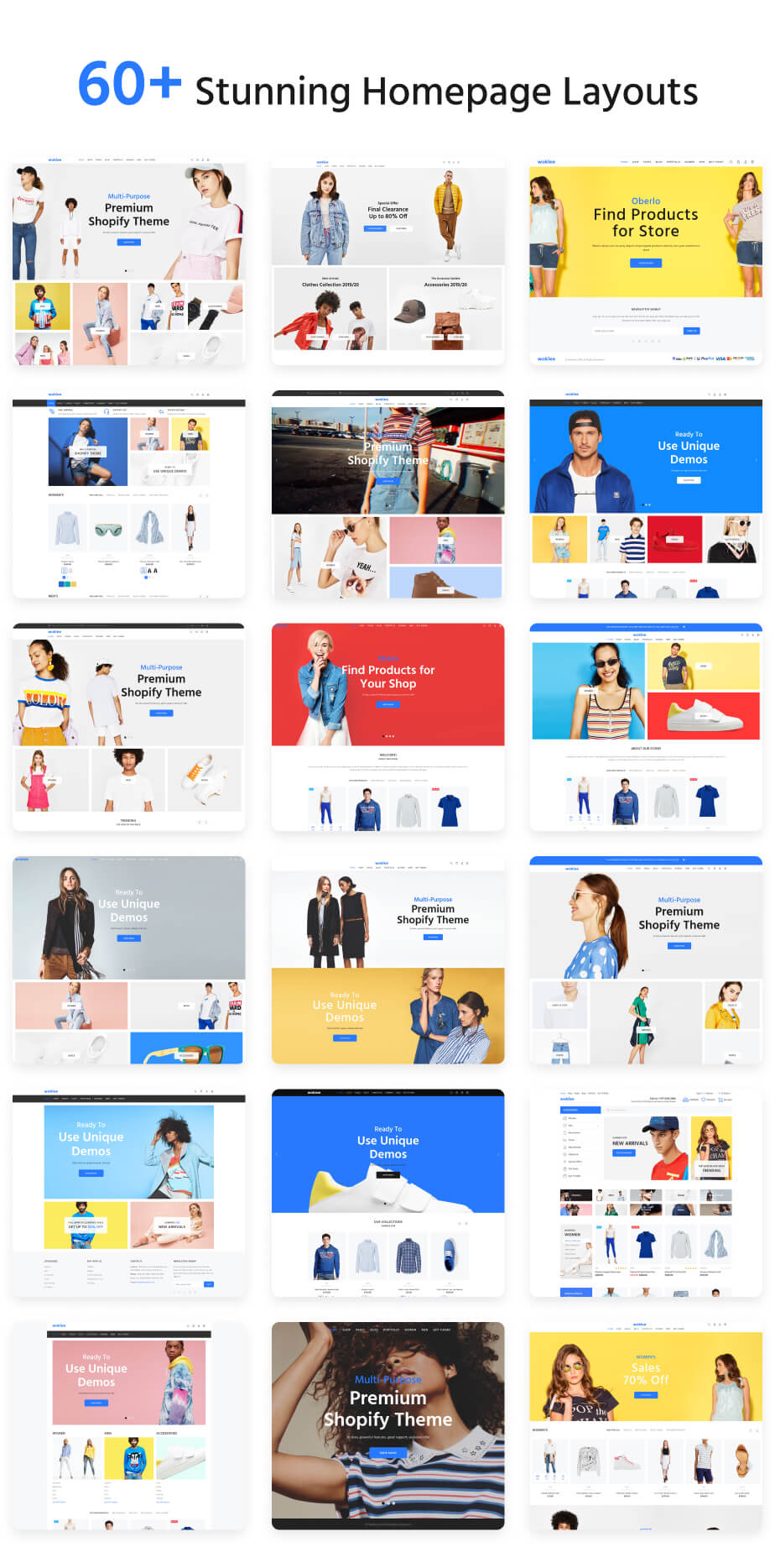 Free Multipurpose Shopify Theme - Wokiee Overview