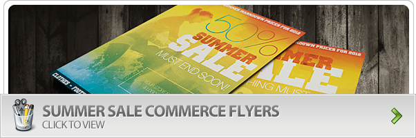 Summer Sale Commerce Flyer Photoshop Template