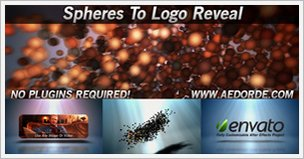 Spheres to Logo Reveal