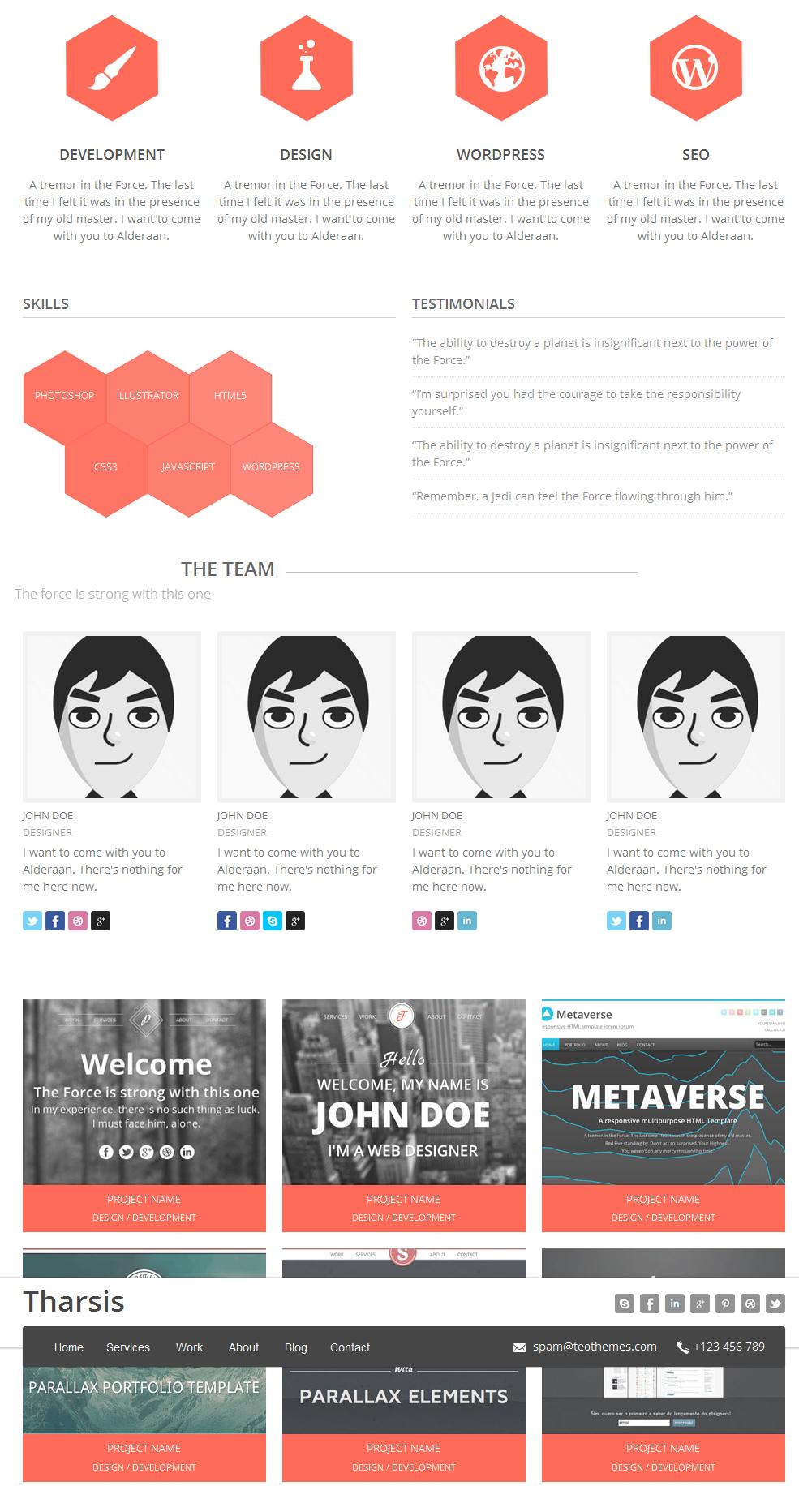 Tharsis - Responsive One Page Portfolio Theme - 7