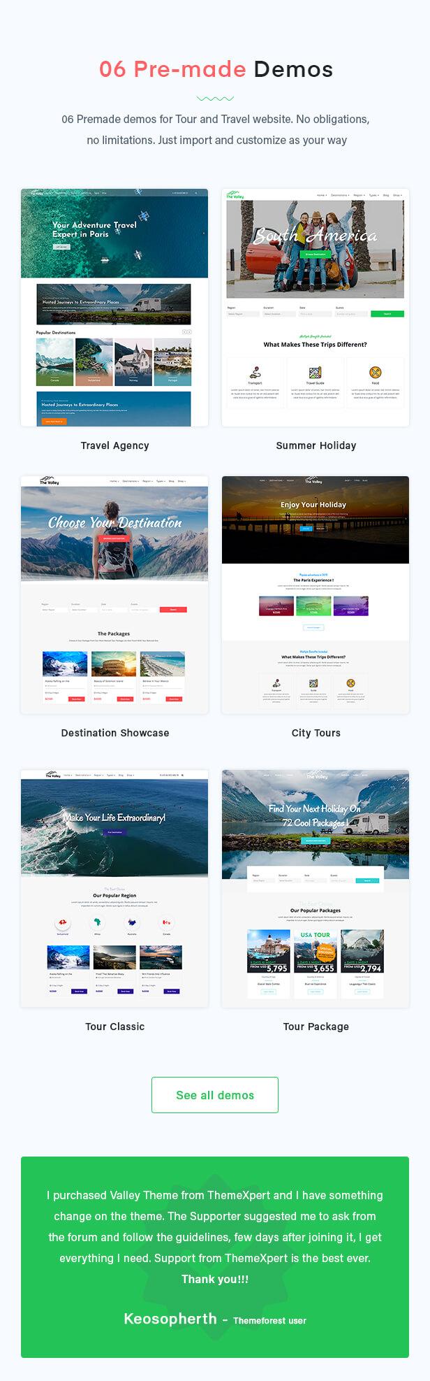 Valley - Tour & Travel Agency WordPress Theme - 2