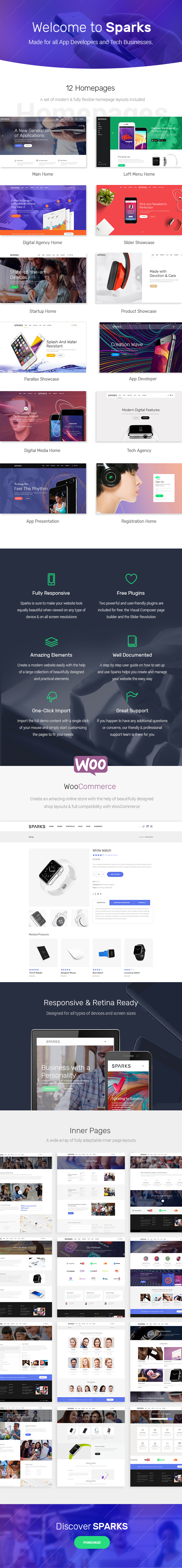 Sparks - Theme for App Developers and Startups - 1