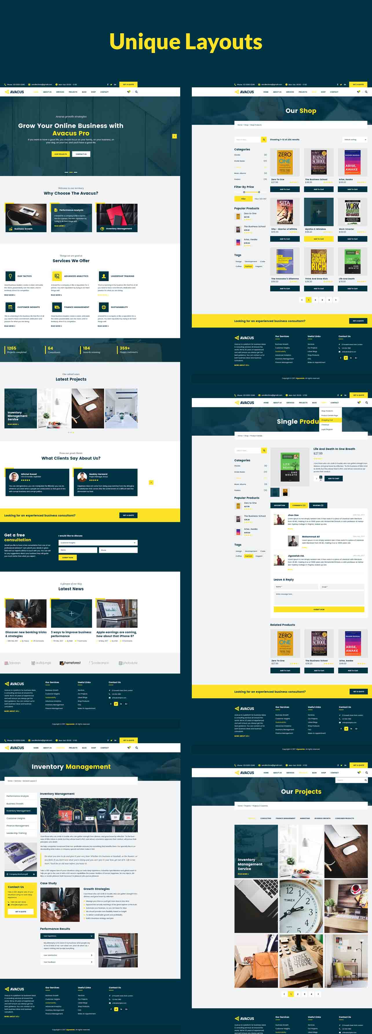 Avacus – Business Consulting and Agency Services HTML5 Template - 6