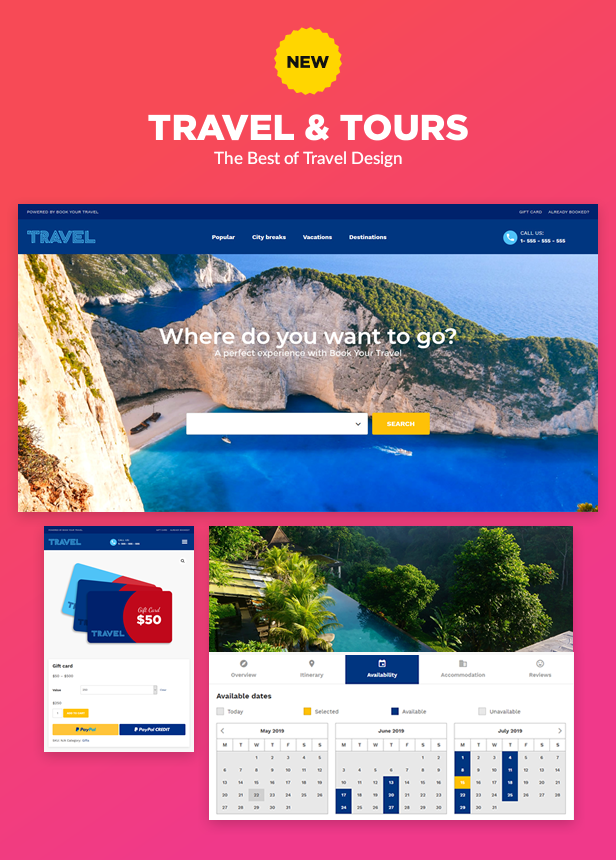 Book Your Travel - Online Booking WordPress Theme by