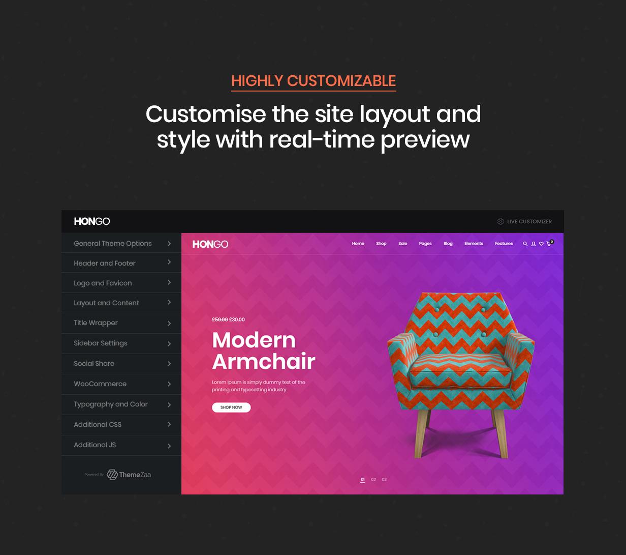 Hongo - Modern & Multipurpose WooCommerce WordPress Theme