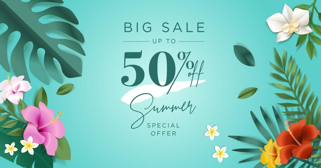 Flash summer sale, only 2 days!