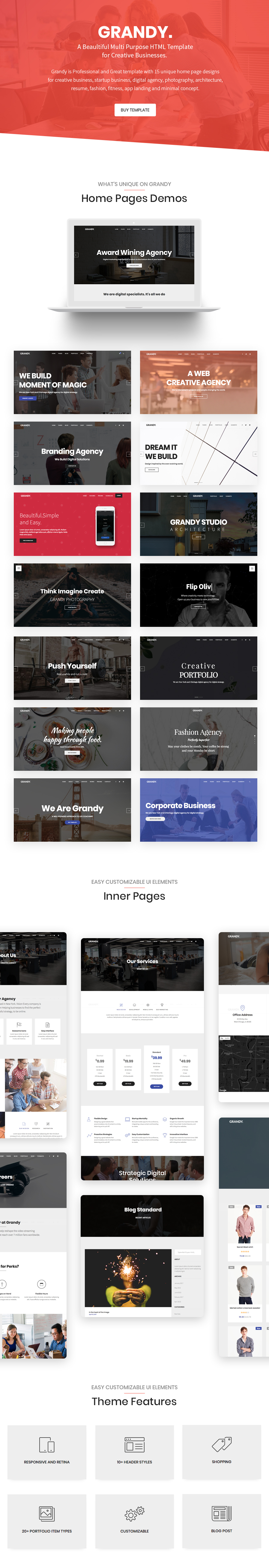 Grandy - Creative Multi Purpose Big HTML5 Template - 1