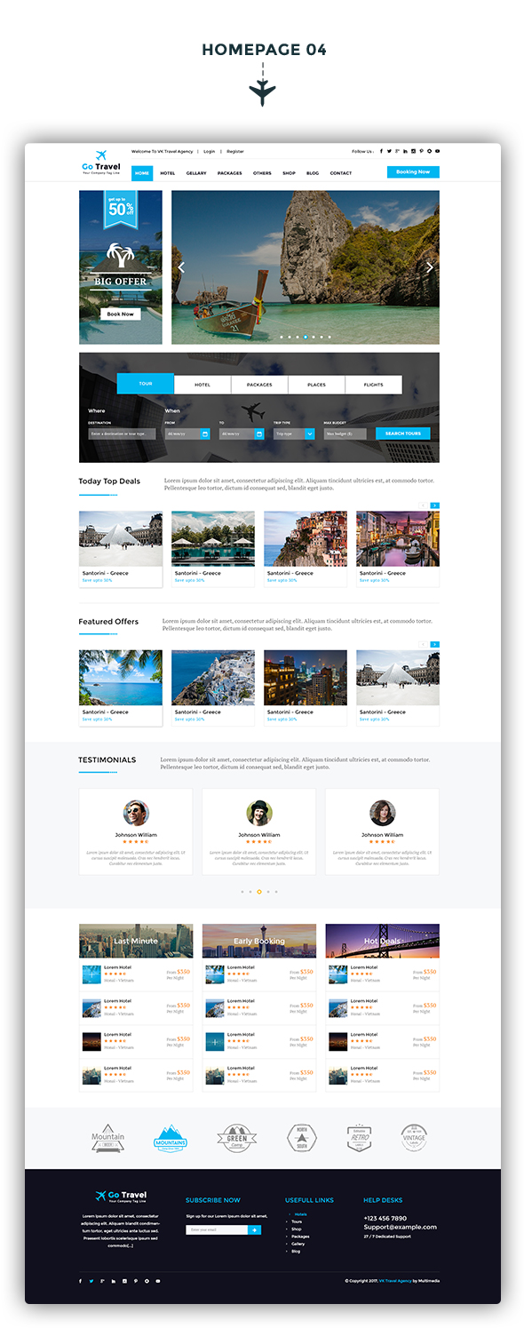 Travel PSD Template - 5
