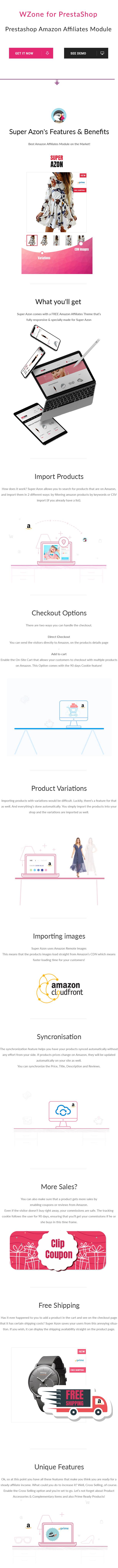 WZone for Prestashop - Amazon Affiliates Module - 1