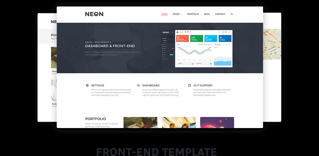 Neon - Bootstrap Admin Theme - 9