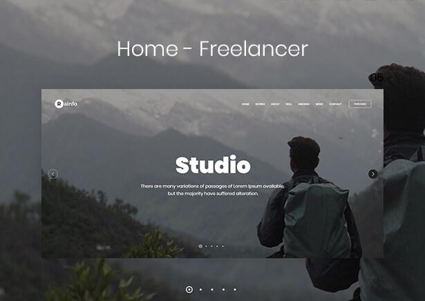 Rainfo - Minimal Creative Portfolio for Freelancers & Agencies - 7