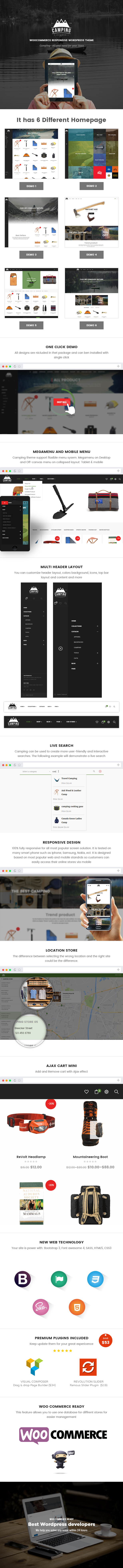 Camping - Responsive WooCommerce WordPress Theme