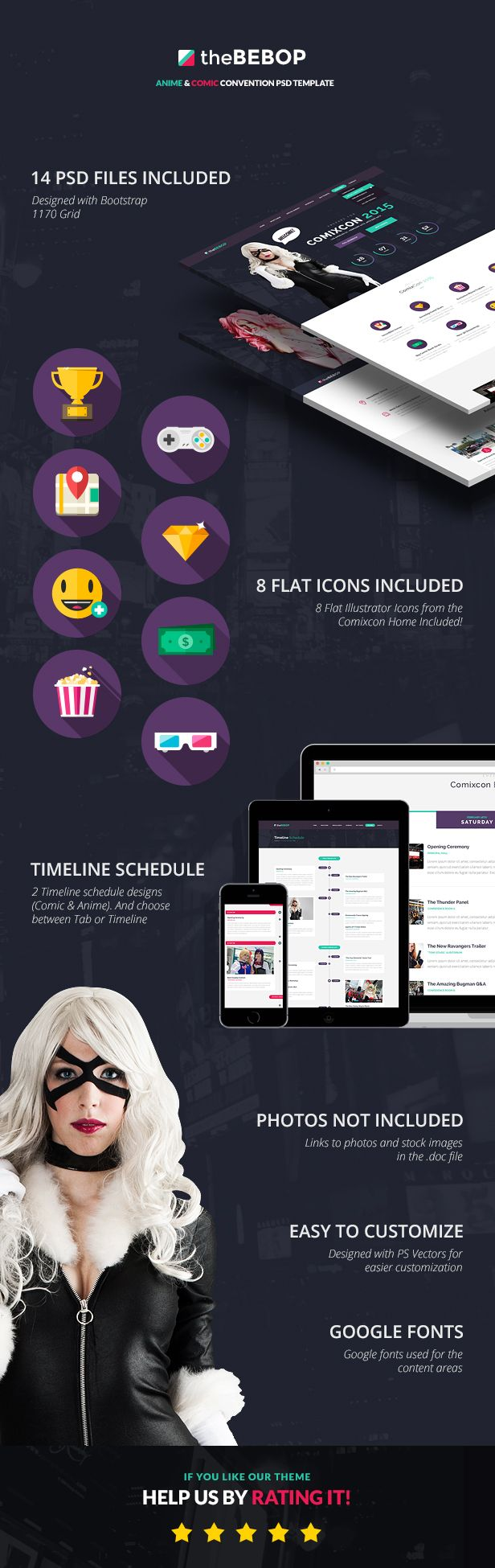 The Bebop Anime and Comic Convention PSD Template - 7