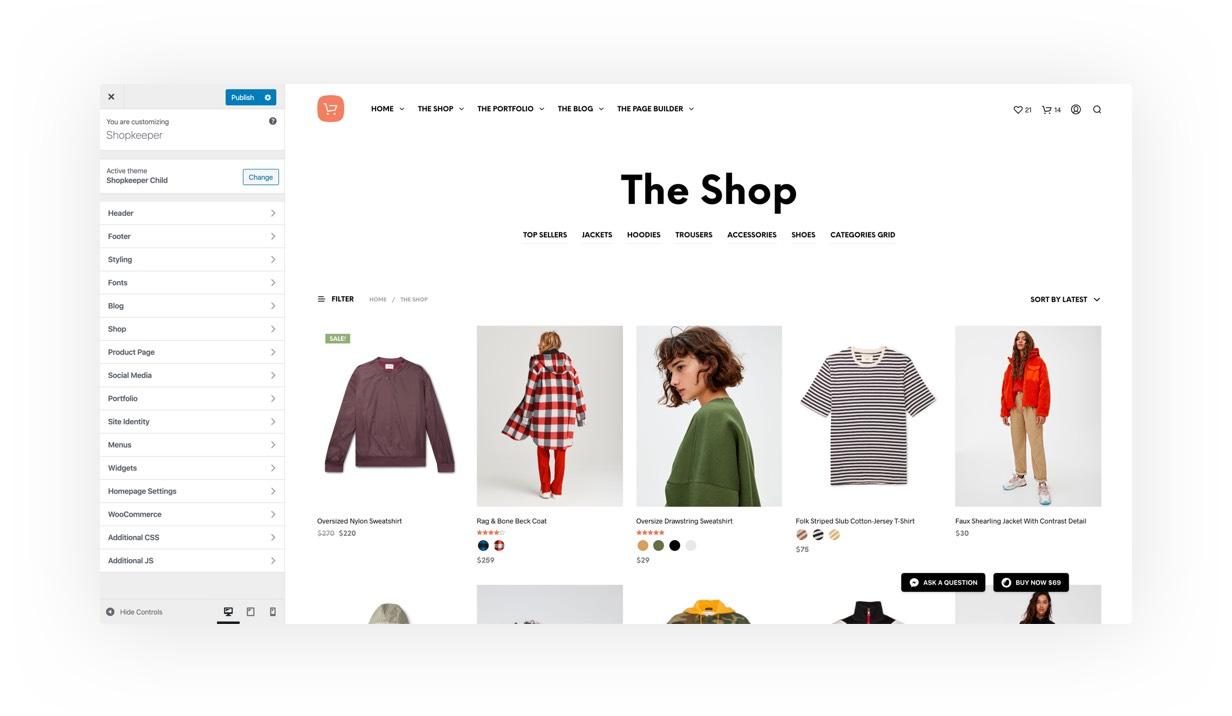 Shopkeeper-WooCommerce在线商城主题[更至v2.9.42]