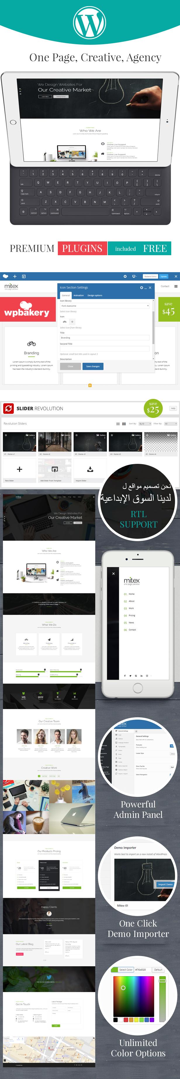 Mitex - One Page WordPress Theme - 2