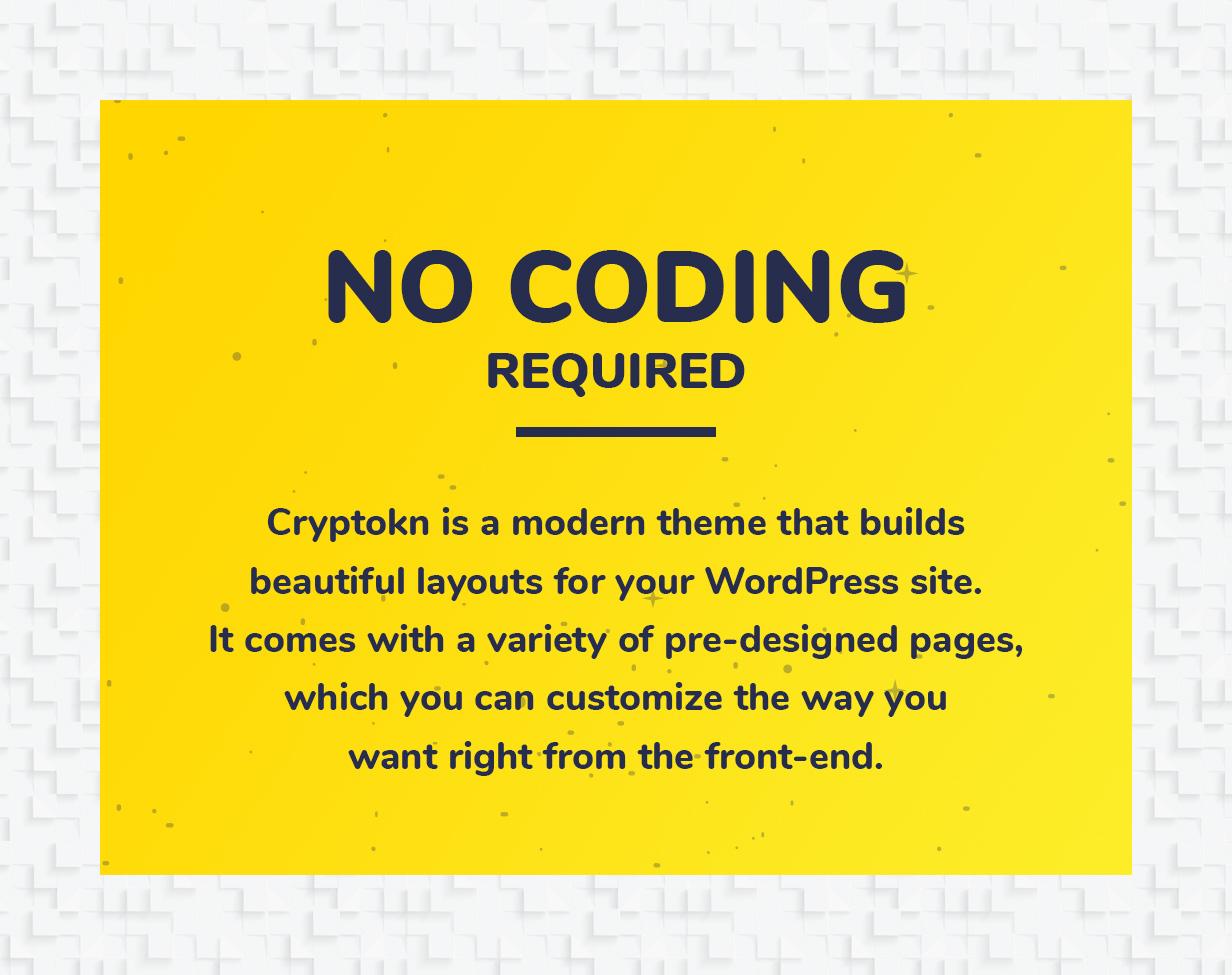 Cryptokn - ICO Landing Page & Cryptocurrency WordPress Theme - 3