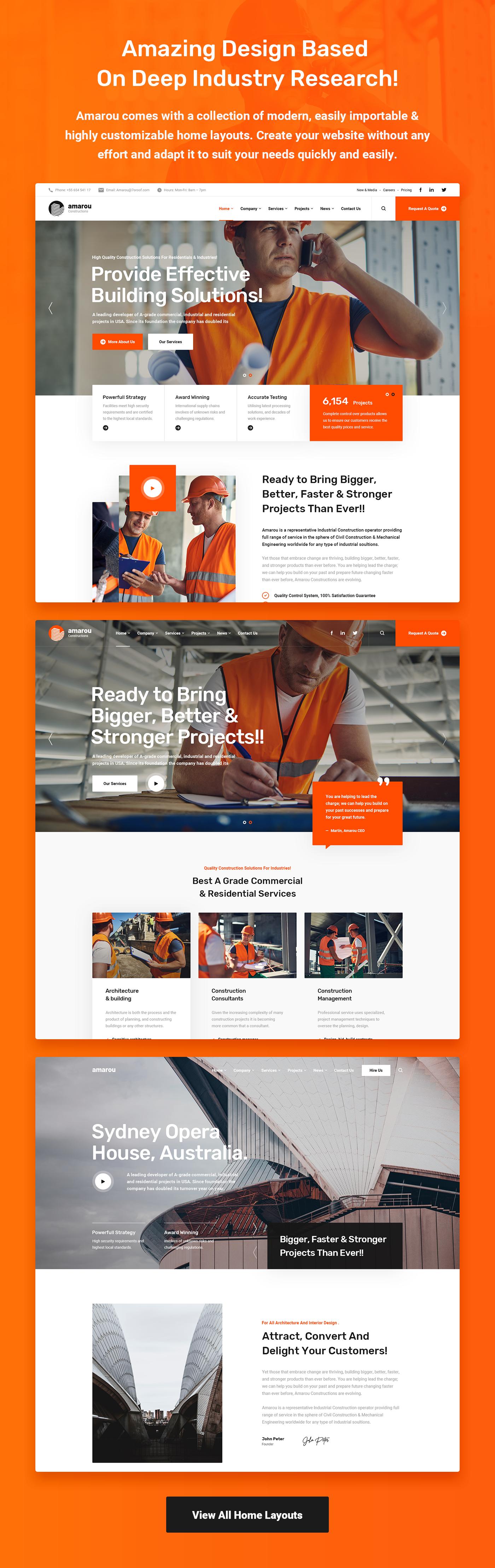 Amarou - Construction & Architecture WordPress Theme - 2