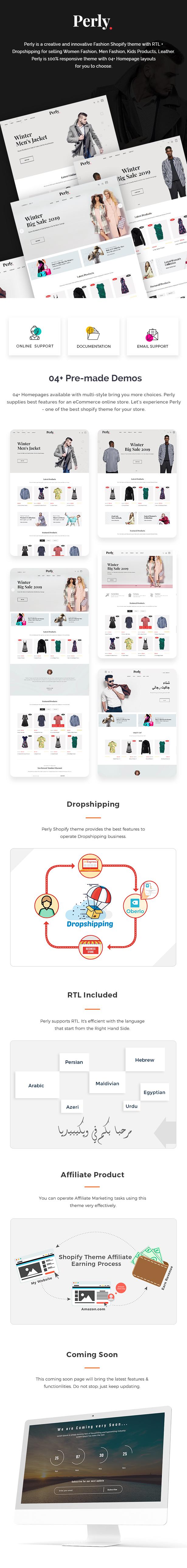 Fashion Shopify Theme - Perly - 1