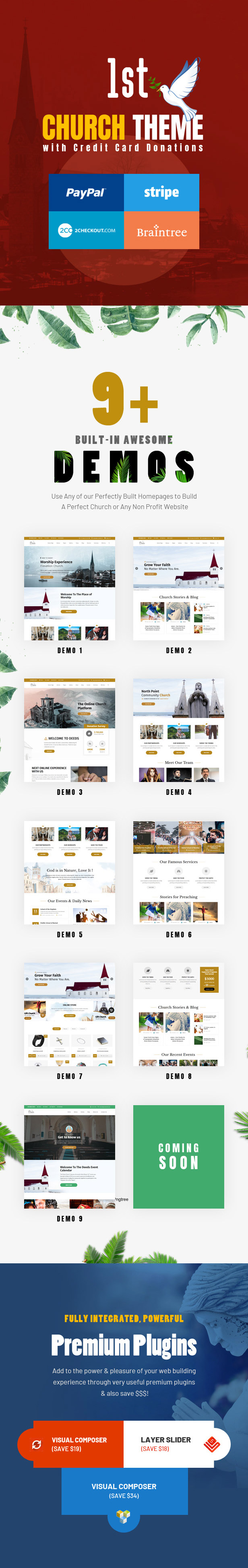 Deeds - Best Responsive Nonprofit Church WordPress Theme - 3