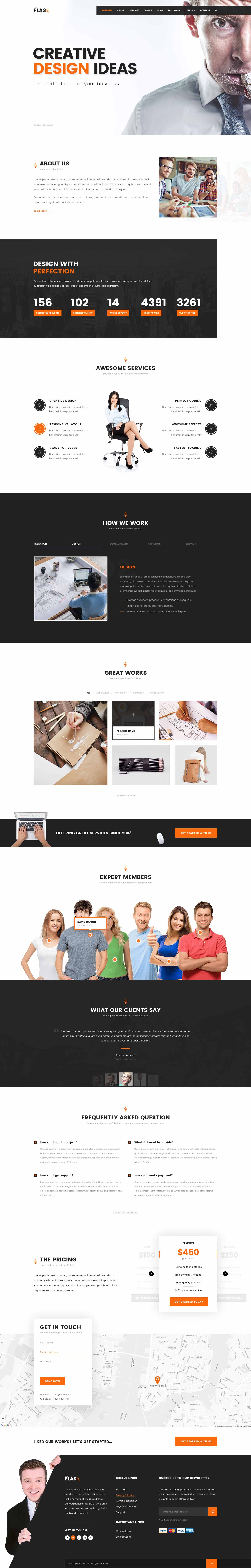 FLASH   One Page HTML Bootstrap Template For Agency, Startup, Business