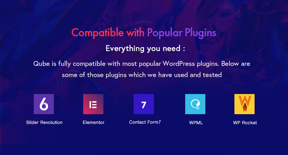 Compatible with popular plugins