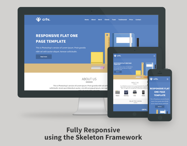 Crtv - Responsive Flat One Page Template - 5
