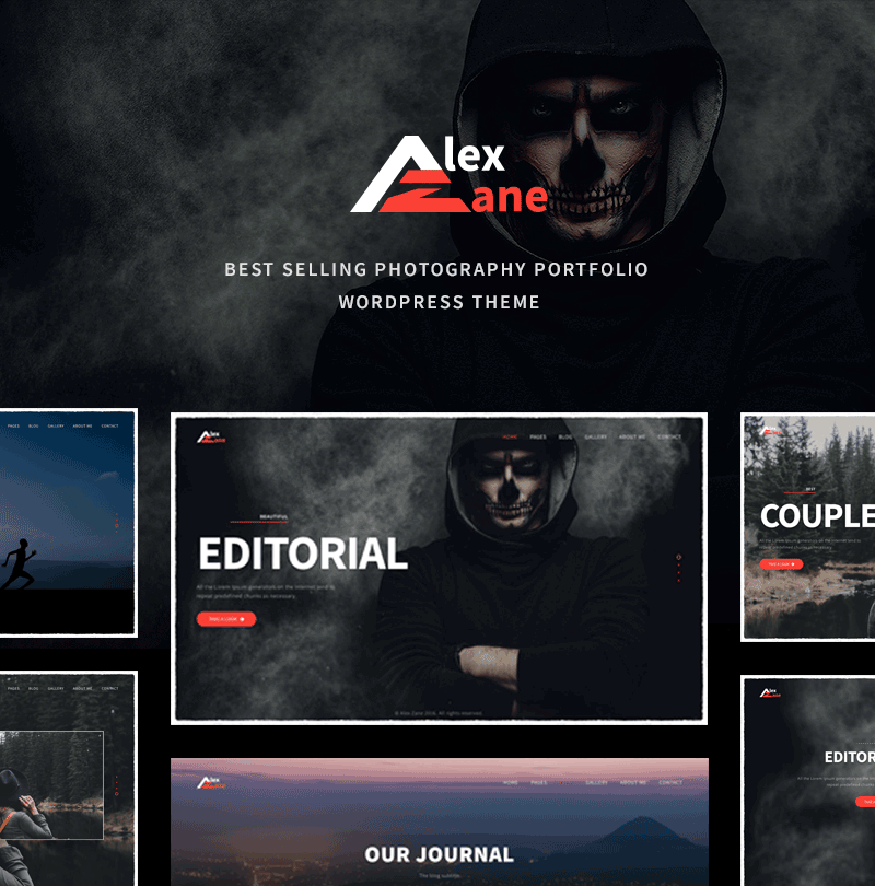 Alex Zane Photo/Portfolio WordPress Theme