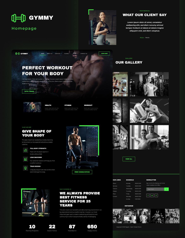 Gymmy   Sport & Fitness Elementor Template Kit - 1