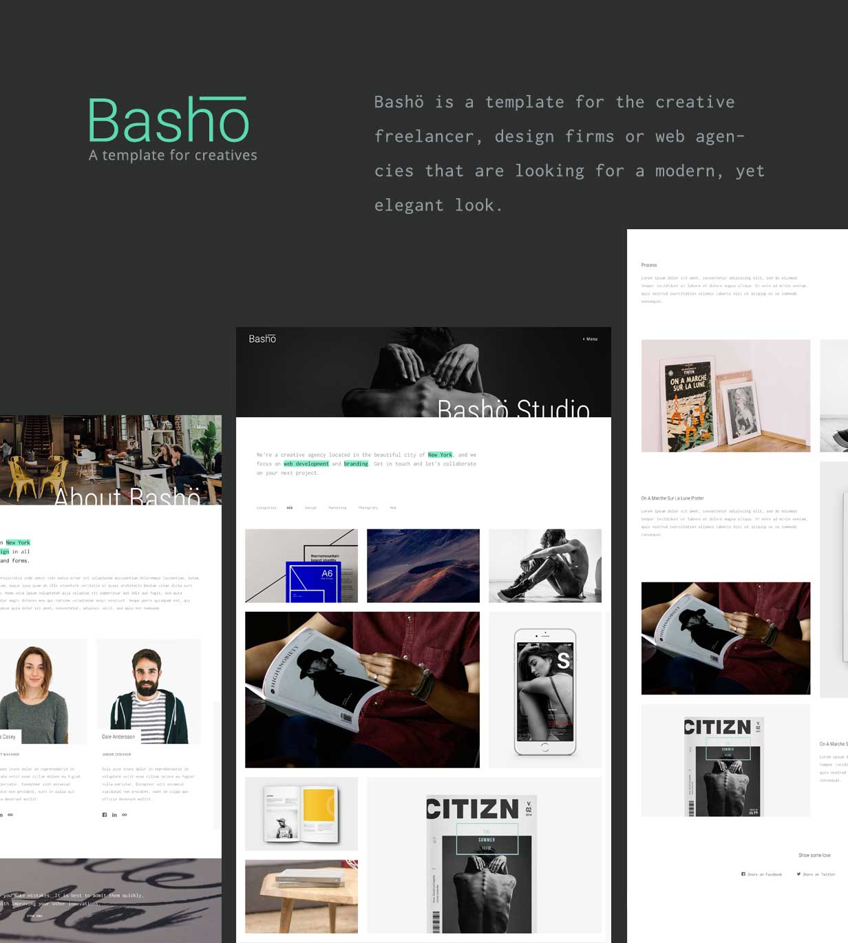 Basho - A Creative HTML5 Template for Freelancers & Agencies by ...