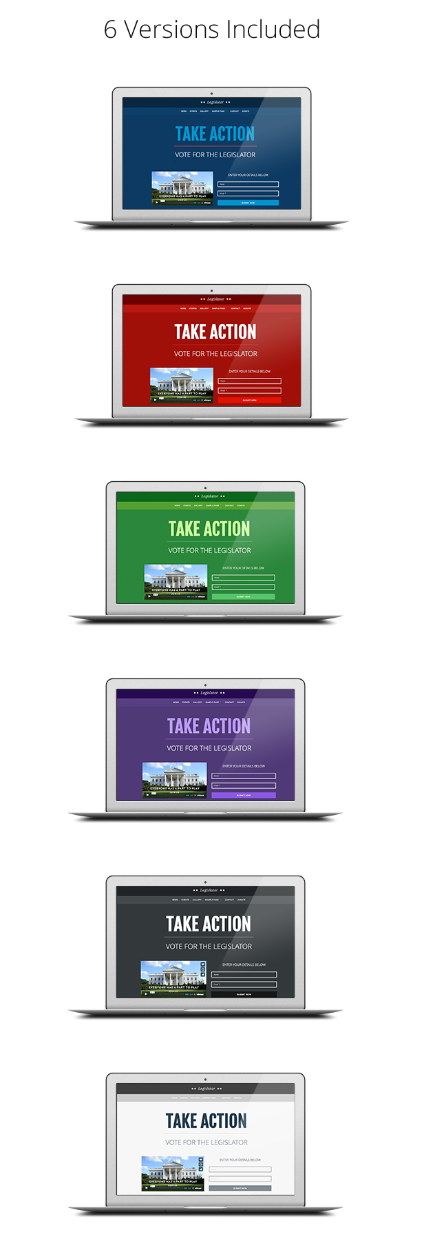 Legislator: Political WordPress Campaign - 1