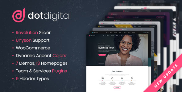 DotDigital – Web Design Agency WordPress Theme