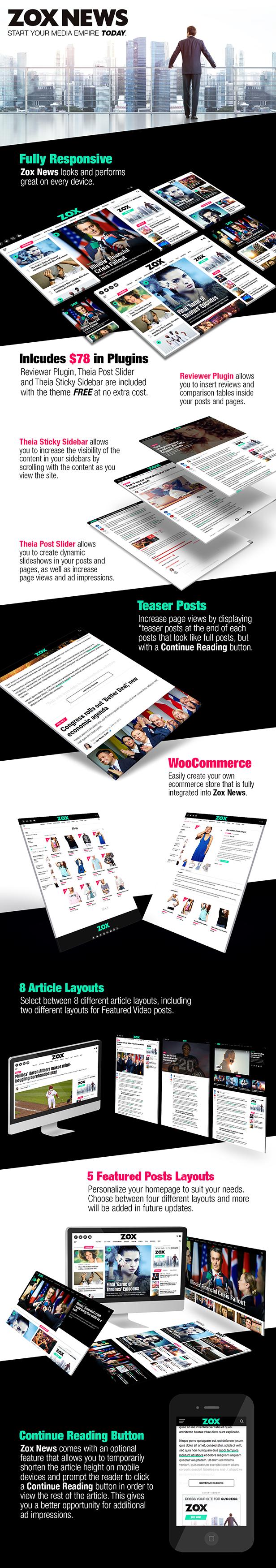 Zox News v3.11 Professional WordPress News & Magazine Theme