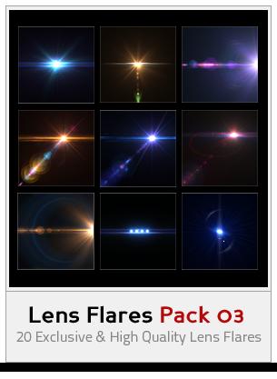 Lens Flares Pack 03