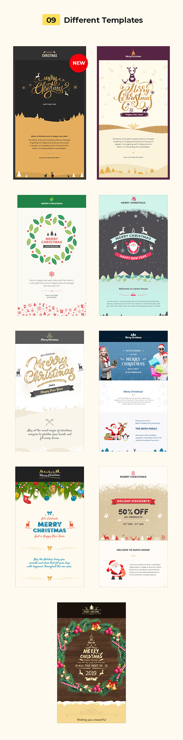 email template christmas