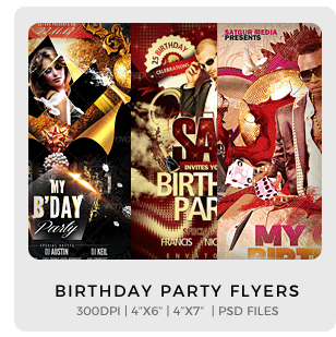 Abstract Party Flyers Bundle Vol1 - 8