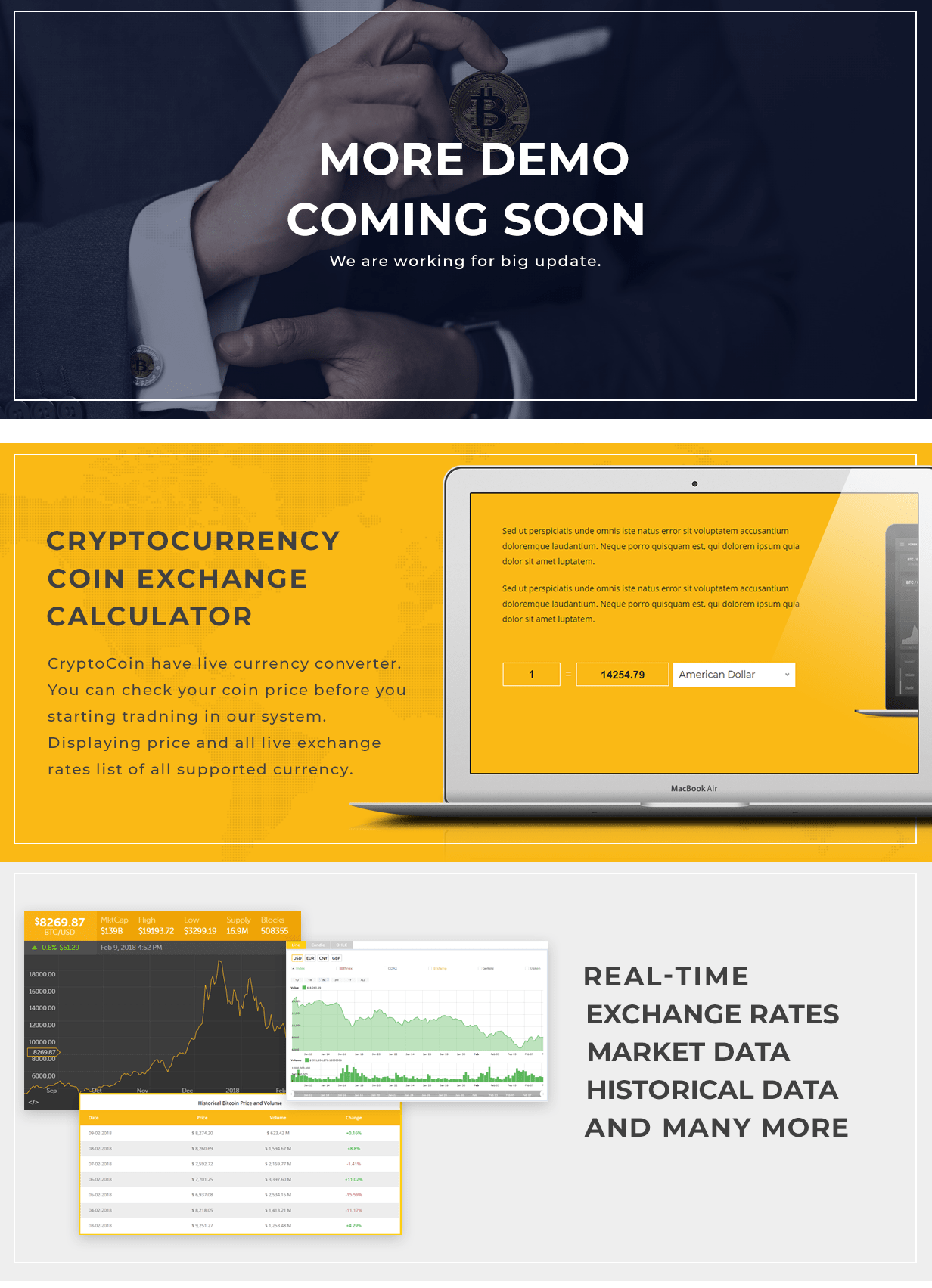 CryptoCoin - Crypto Currency HTML Template - 1