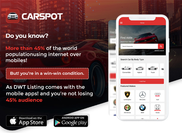 Carspot React Native Apps
