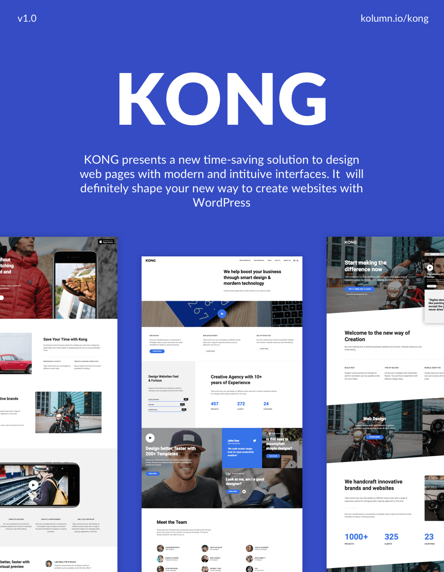KONG - Website Builder WordPress Plugin - 1